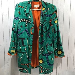 Vintage Cache oversized Blazer dress.  80's 90's